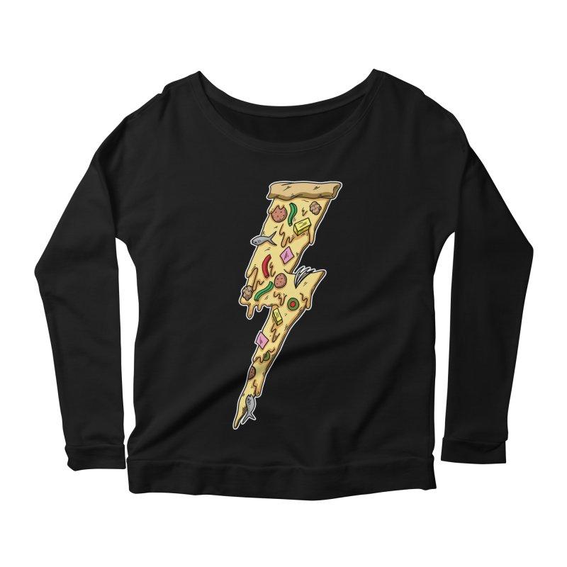 Pizza Bolt!  Women's Longsleeve Scoopneck  by Humor Tees