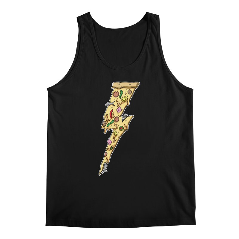 Pizza Bolt!  Men's Tank by Humor Tees