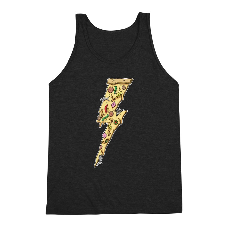 Pizza Bolt!  Men's Triblend Tank by Humor Tees