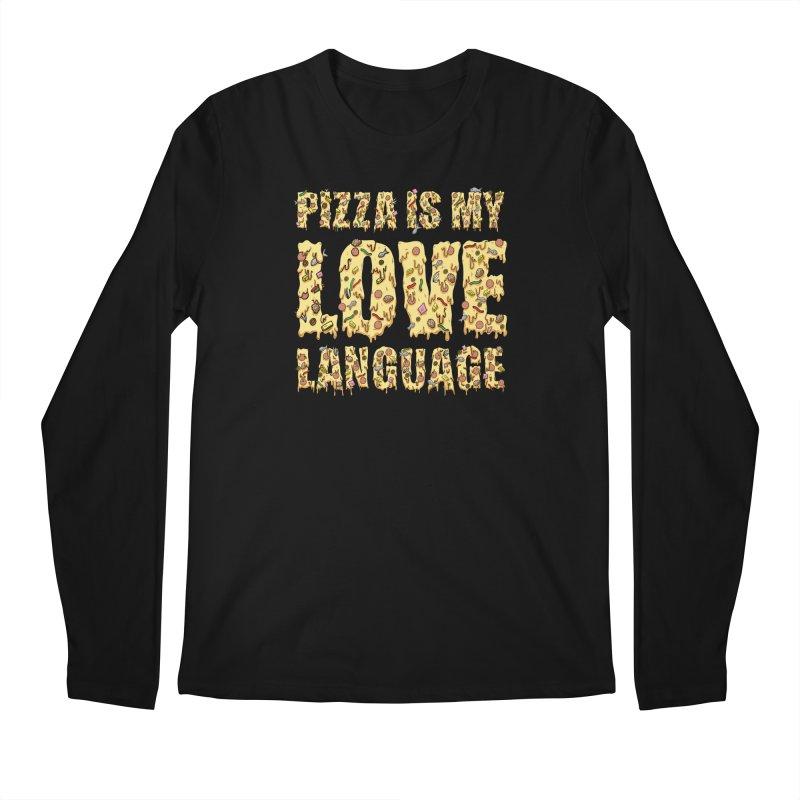 Pizza is my love language!  Men's Longsleeve T-Shirt by Humor Tees