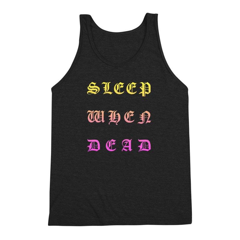 Sleep When Dead Men's Triblend Tank by HUMOR TEES