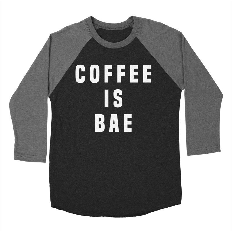 COFFEE IS BAE Women's Baseball Triblend T-Shirt by Humor Tees