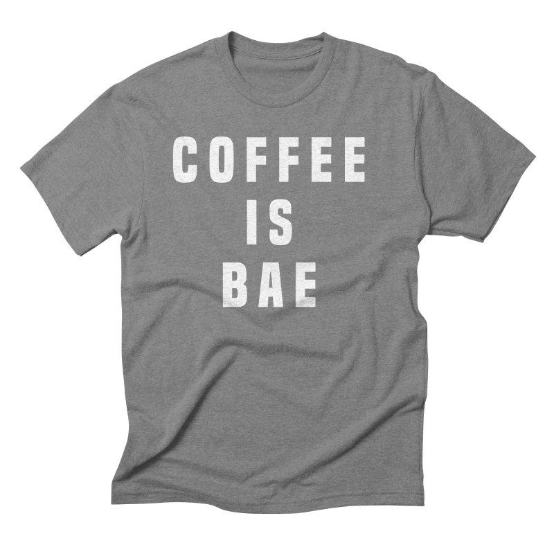 COFFEE IS BAE Men's Triblend T-shirt by Humor Tees
