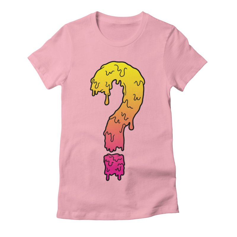 Dripping Question 2 Women's Fitted T-Shirt by Humor Tees