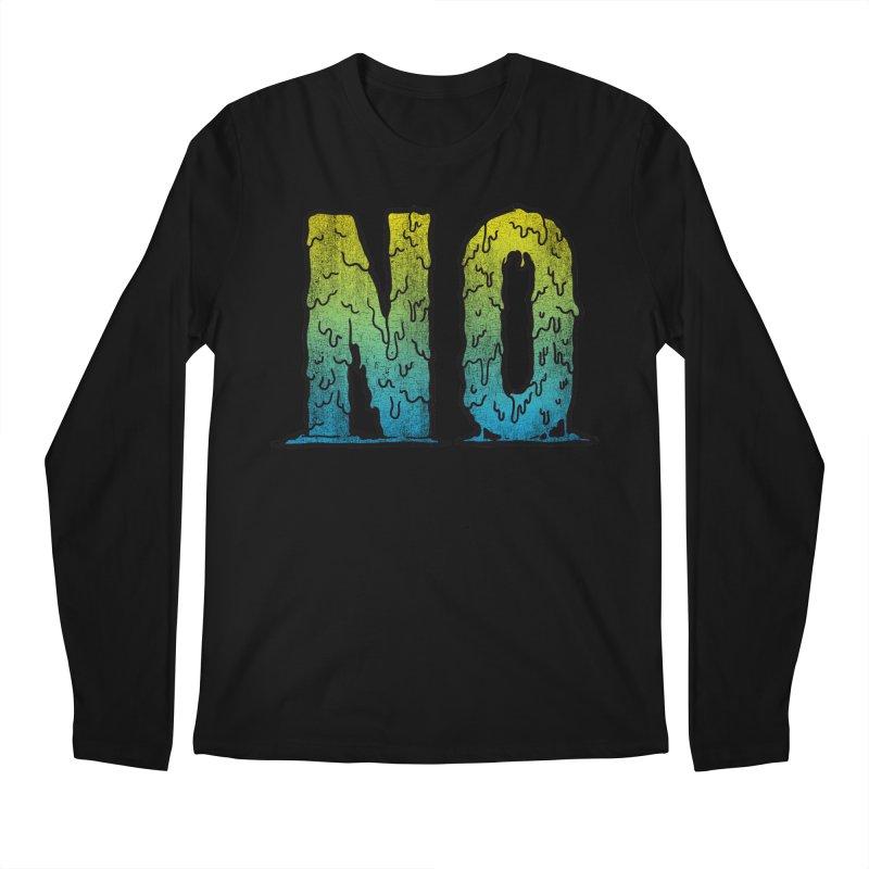 NO! Men's Longsleeve T-Shirt by HUMOR TEES