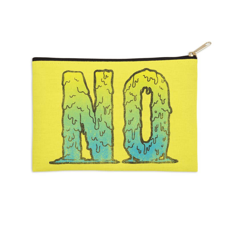 NO! Accessories Zip Pouch by HUMOR TEES