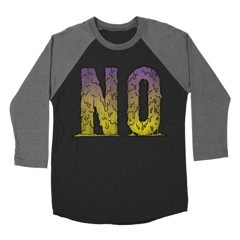 NO! Women's Baseball Triblend T-Shirt by Humor Tees