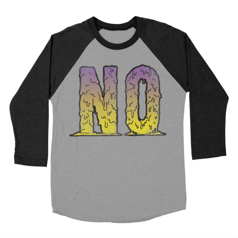 NO! Men's Baseball Triblend T-Shirt by Humor Tees