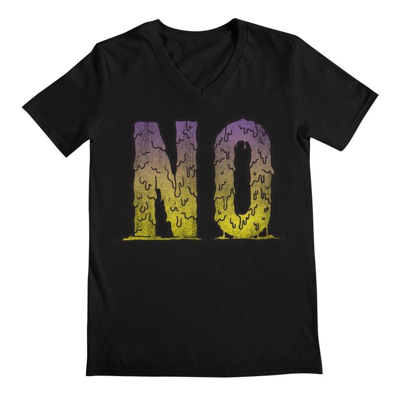 NO! Men's V-Neck by Humor Tees