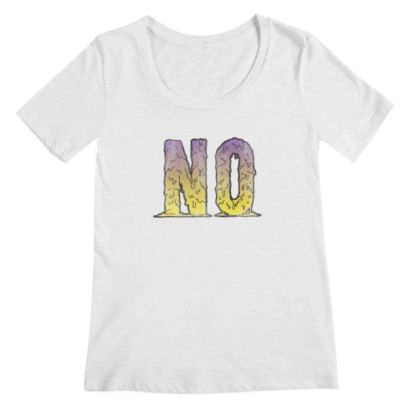 NO! Women's Scoopneck by HUMOR TEES