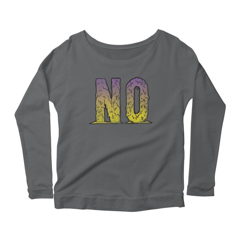 NO! Women's Longsleeve Scoopneck  by Humor Tees