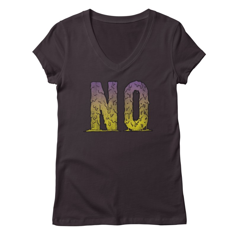 NO! Women's V-Neck by HUMOR TEES