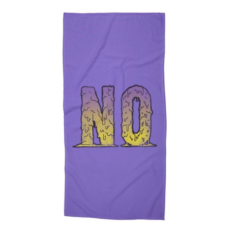 NO! Accessories Beach Towel by HUMOR TEES