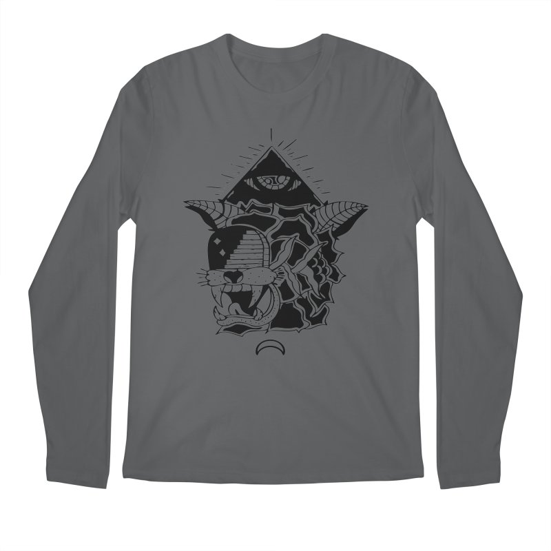 Traditional Black Men's Longsleeve T-Shirt by Hvmos Artist Shop