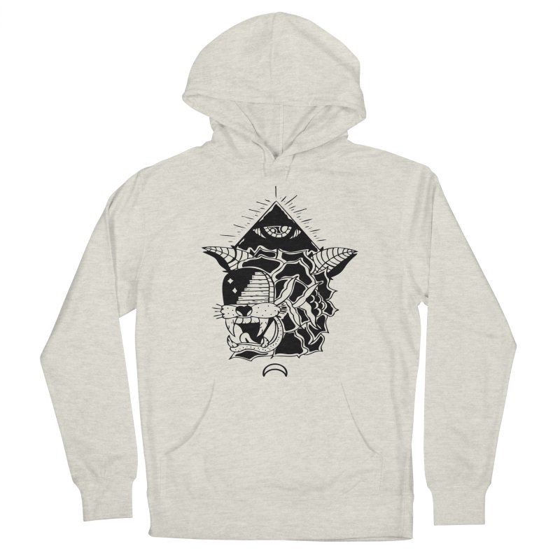 Traditional Black Men's Pullover Hoody by Hvmos Artist Shop