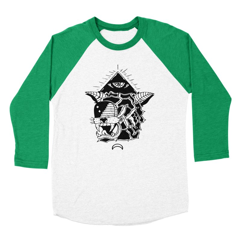 Traditional Black Men's Baseball Triblend Longsleeve T-Shirt by Hvmos Artist Shop