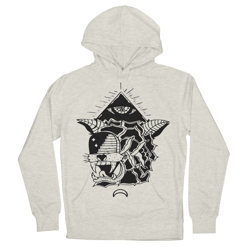 Traditional Black Women's French Terry Pullover Hoody by Hvmos Artist Shop