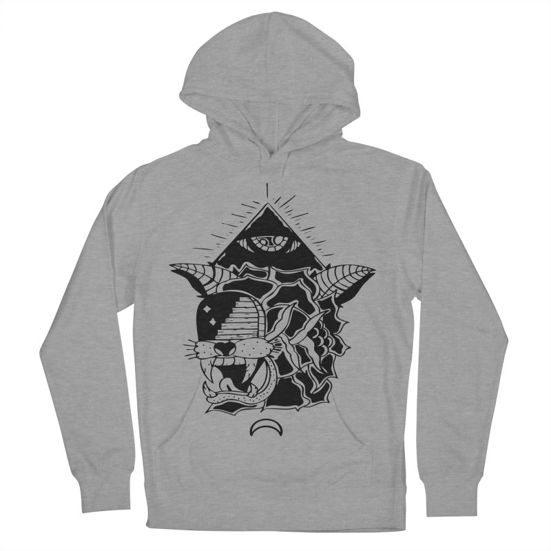 Traditional Black Men's French Terry Pullover Hoody by Hvmos Artist Shop
