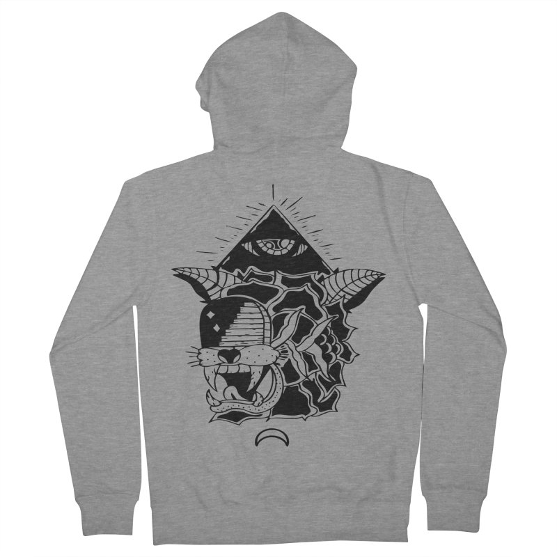 Traditional Black Men's French Terry Zip-Up Hoody by Hvmos Artist Shop