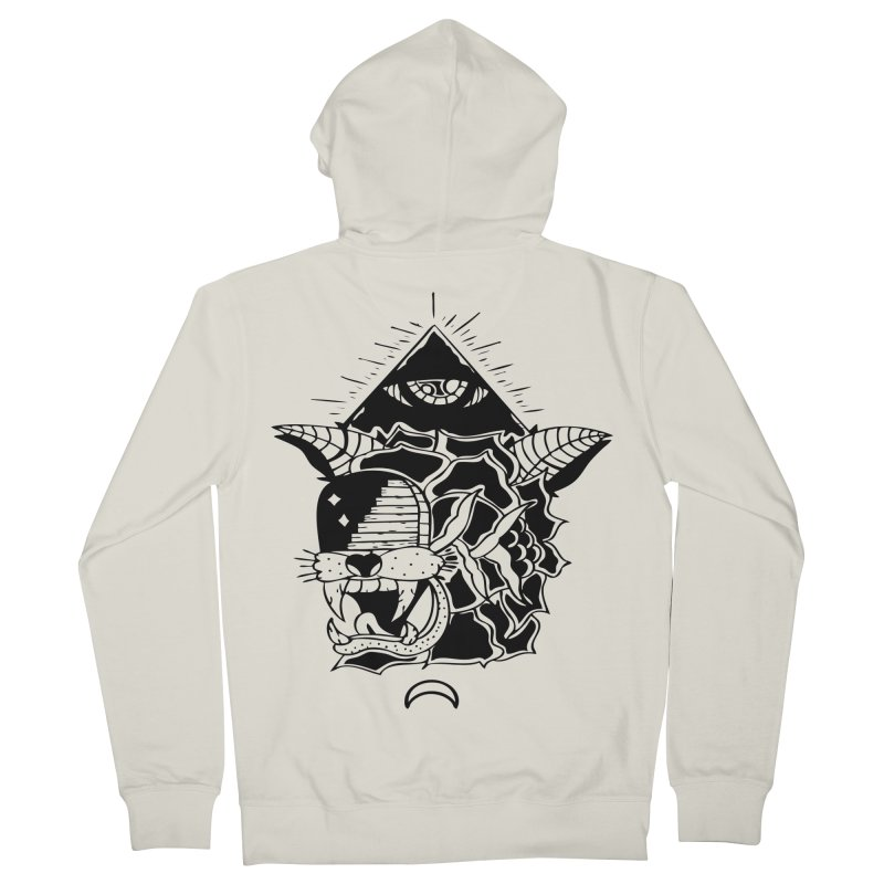Traditional Black Men's Zip-Up Hoody by Hvmos Artist Shop