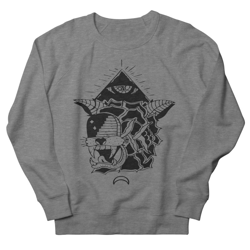 Traditional Black Men's French Terry Sweatshirt by Hvmos Artist Shop