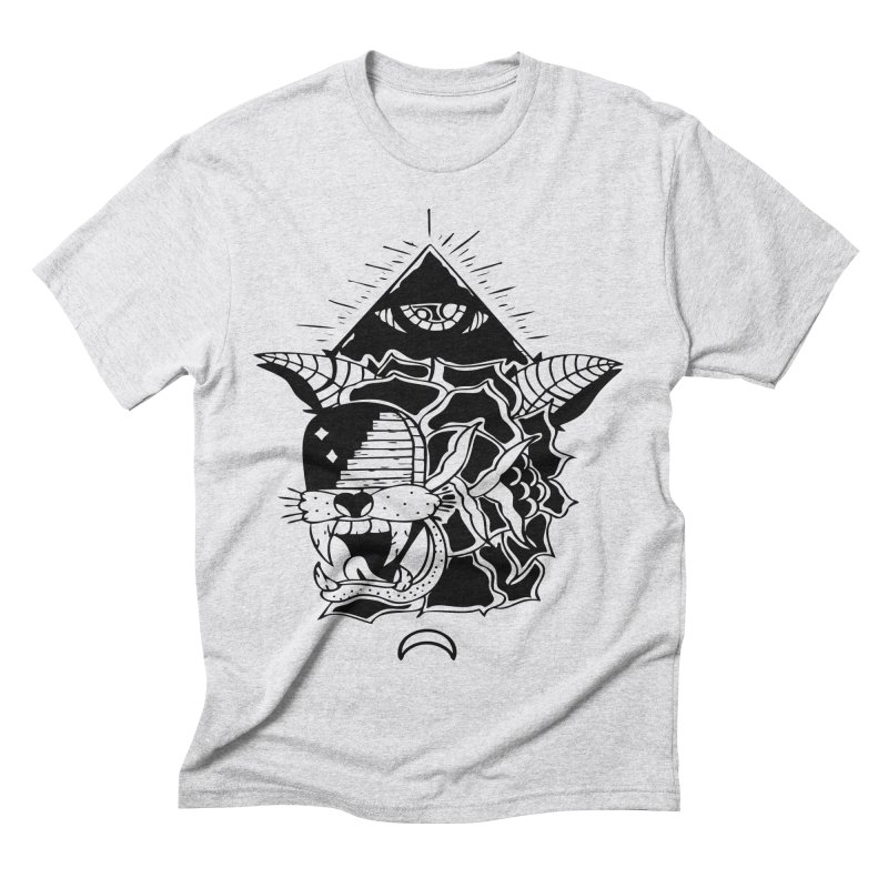 Traditional Black Men's Triblend T-Shirt by Hvmos Artist Shop