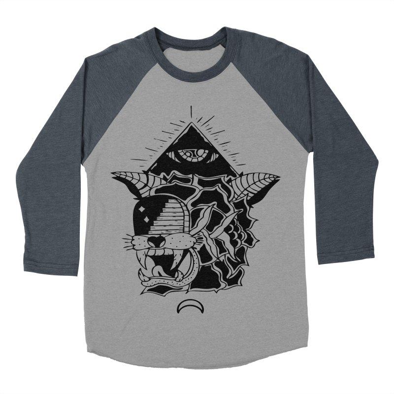 Traditional Black Men's Baseball Triblend T-Shirt by Hvmos Artist Shop