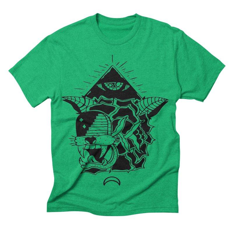 Traditional Black Men's Triblend T-shirt by Hvmos Artist Shop
