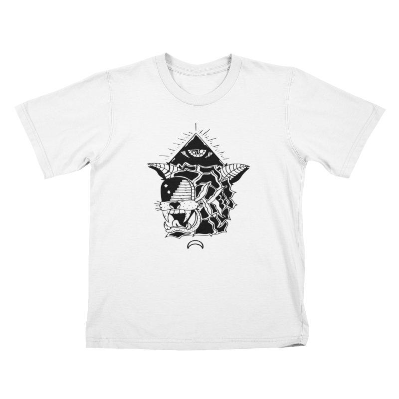 Traditional Black Kids T-Shirt by Hvmos Artist Shop