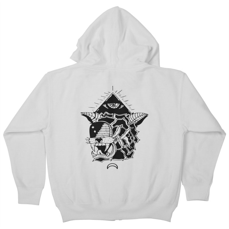 Traditional Black Kids Zip-Up Hoody by Hvmos Artist Shop
