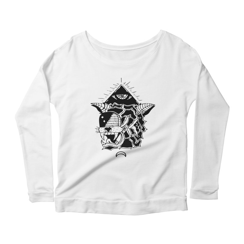 Traditional Black Women's Longsleeve Scoopneck  by Hvmos Artist Shop
