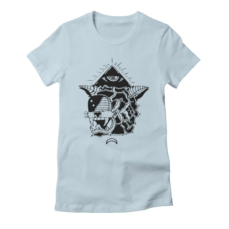 Traditional Black Women's Fitted T-Shirt by Hvmos Artist Shop
