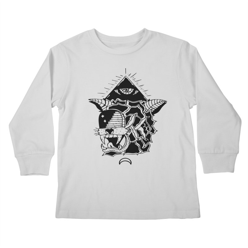 Traditional Black Kids Longsleeve T-Shirt by Hvmos Artist Shop