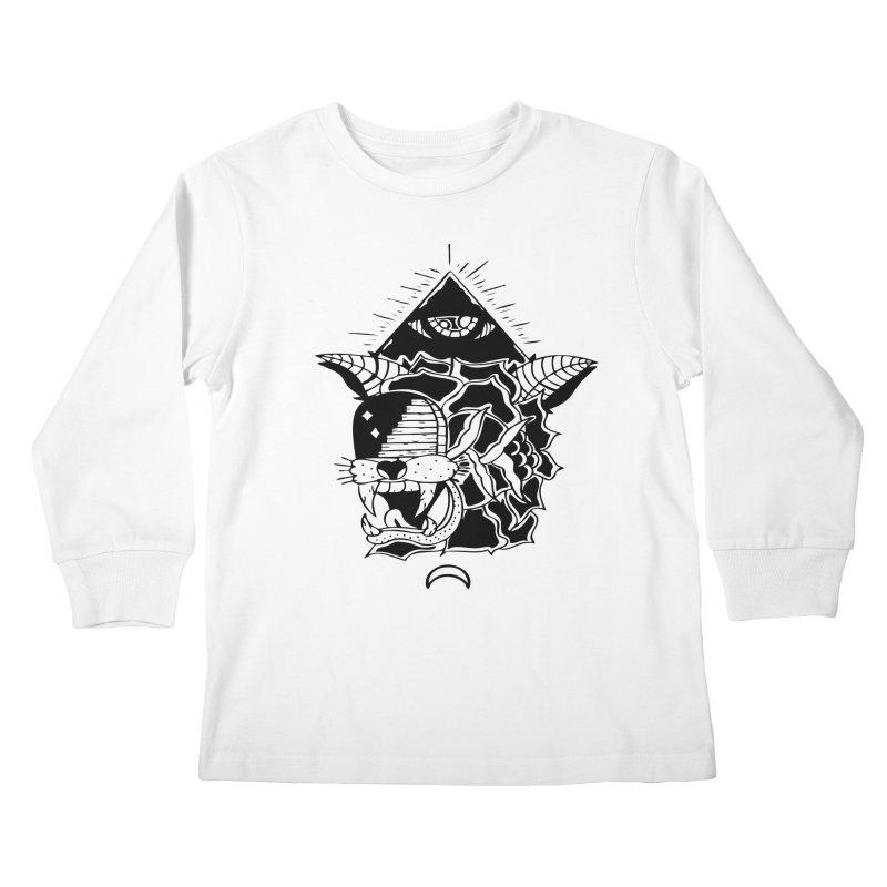 Traditional Black Kids Longsleeve T-Shirt by Hvmos Artist Shop