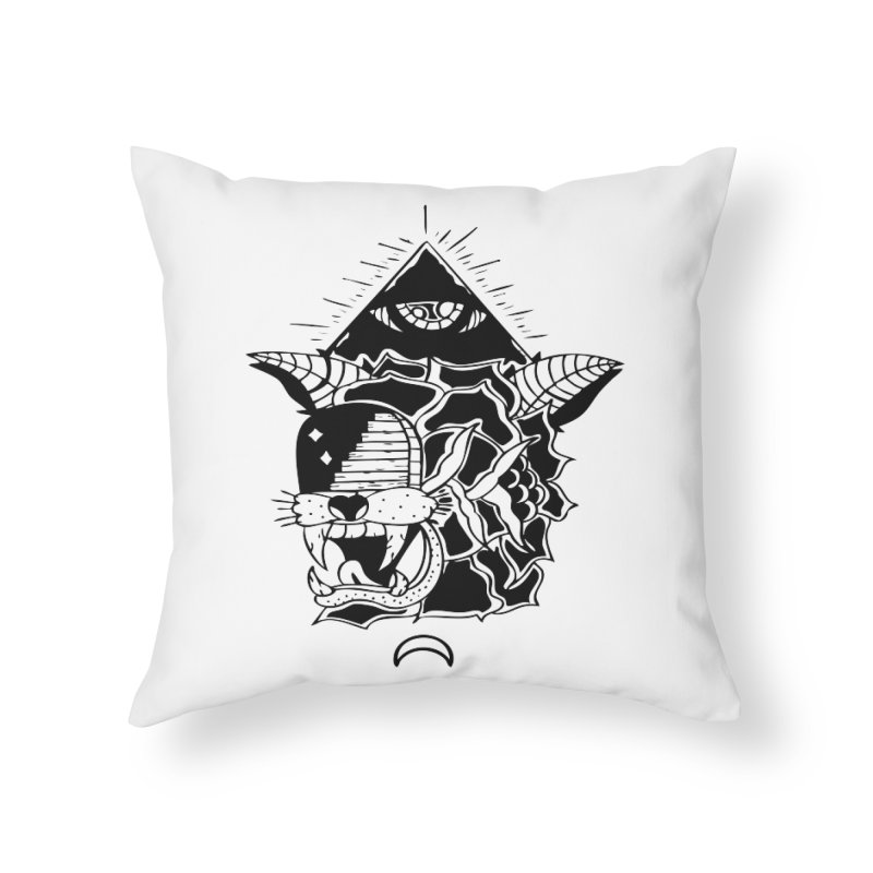 Traditional Black Home Throw Pillow by Hvmos Artist Shop