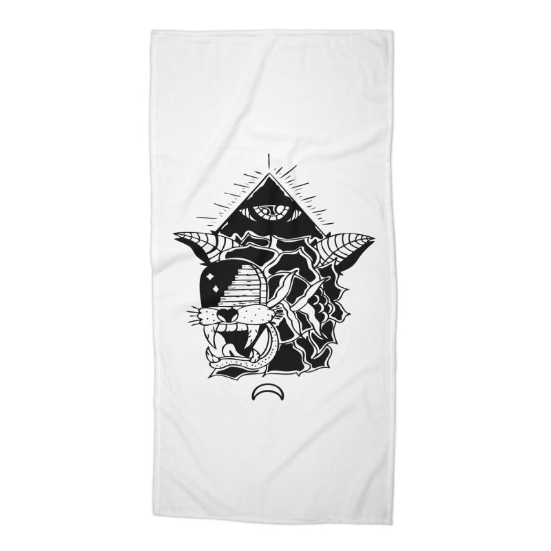 Traditional Black Accessories Beach Towel by Hvmos Artist Shop