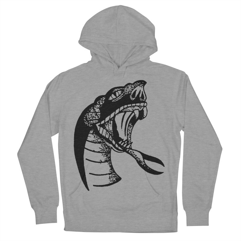 BLXCK SNAKE Men's French Terry Pullover Hoody by Hvmos Artist Shop