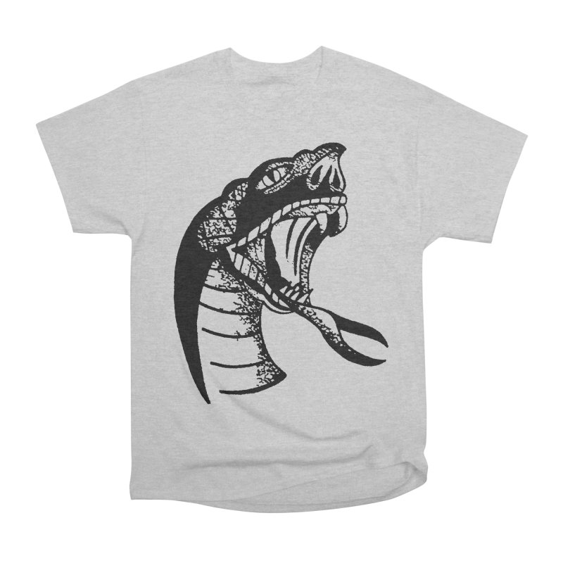 BLXCK SNAKE Men's Heavyweight T-Shirt by Hvmos Artist Shop