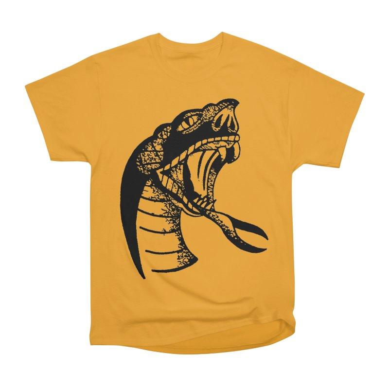 BLXCK SNAKE Men's Heavyweight T-Shirt by Hvmos Artist Shop