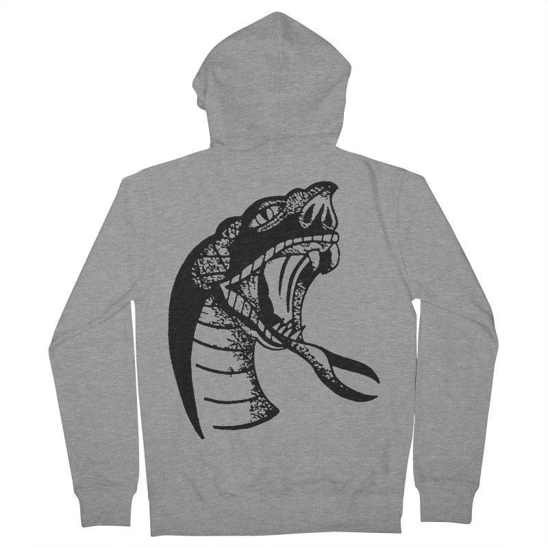 BLXCK SNAKE Men's French Terry Zip-Up Hoody by Hvmos Artist Shop