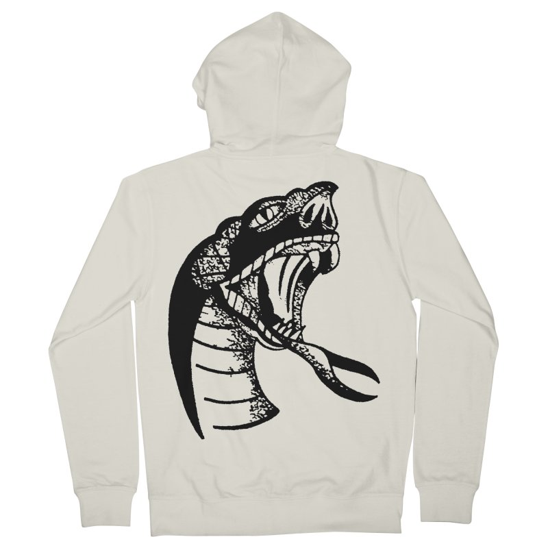 BLXCK SNAKE Men's Zip-Up Hoody by Hvmos Artist Shop