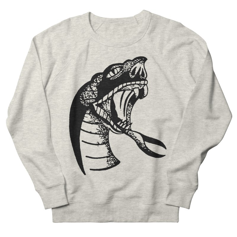 BLXCK SNAKE Men's French Terry Sweatshirt by Hvmos Artist Shop