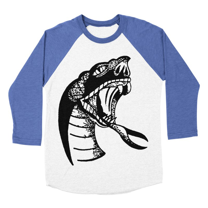 BLXCK SNAKE Women's Baseball Triblend T-Shirt by Hvmos Artist Shop