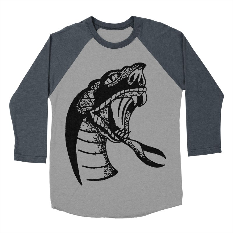 BLXCK SNAKE Men's Baseball Triblend Longsleeve T-Shirt by Hvmos Artist Shop
