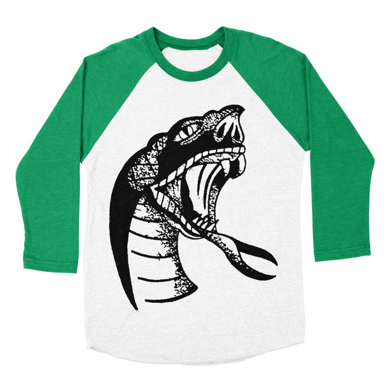 BLXCK SNAKE Men's Baseball Triblend Longsleeve T-Shirt by Hvmos Artist Shop