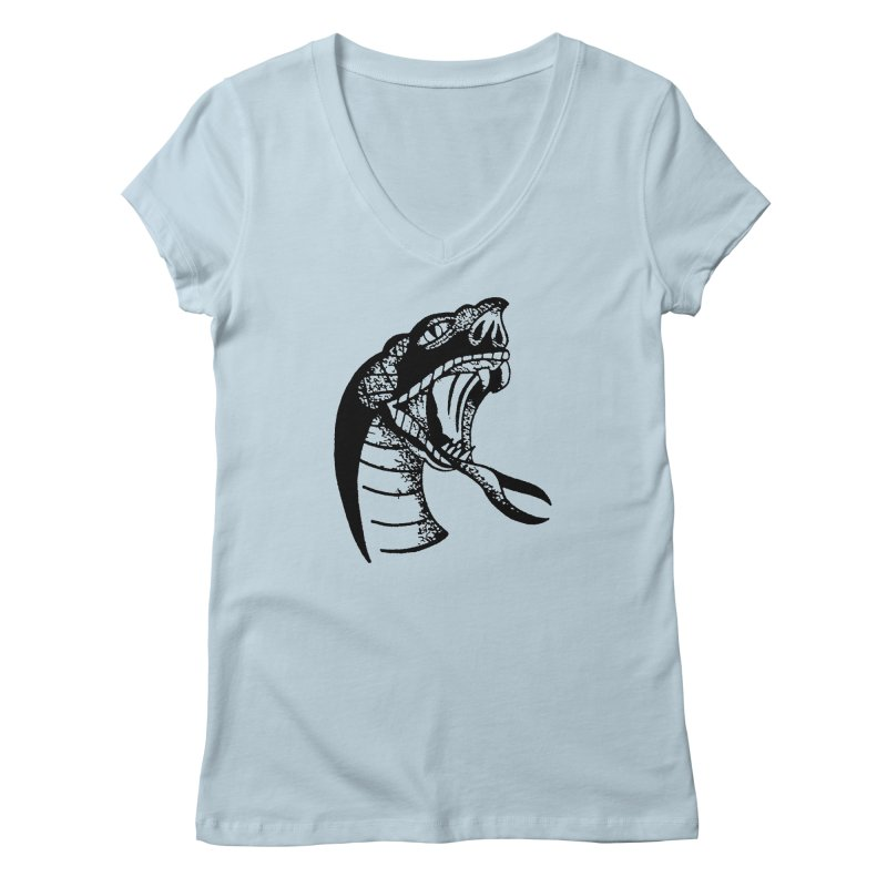 BLXCK SNAKE Women's V-Neck by Hvmos Artist Shop
