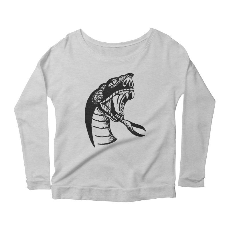 BLXCK SNAKE Women's Scoop Neck Longsleeve T-Shirt by Hvmos Artist Shop