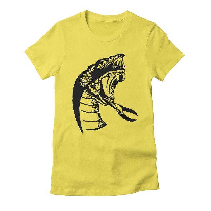 BLXCK SNAKE Women's Fitted T-Shirt by Hvmos Artist Shop