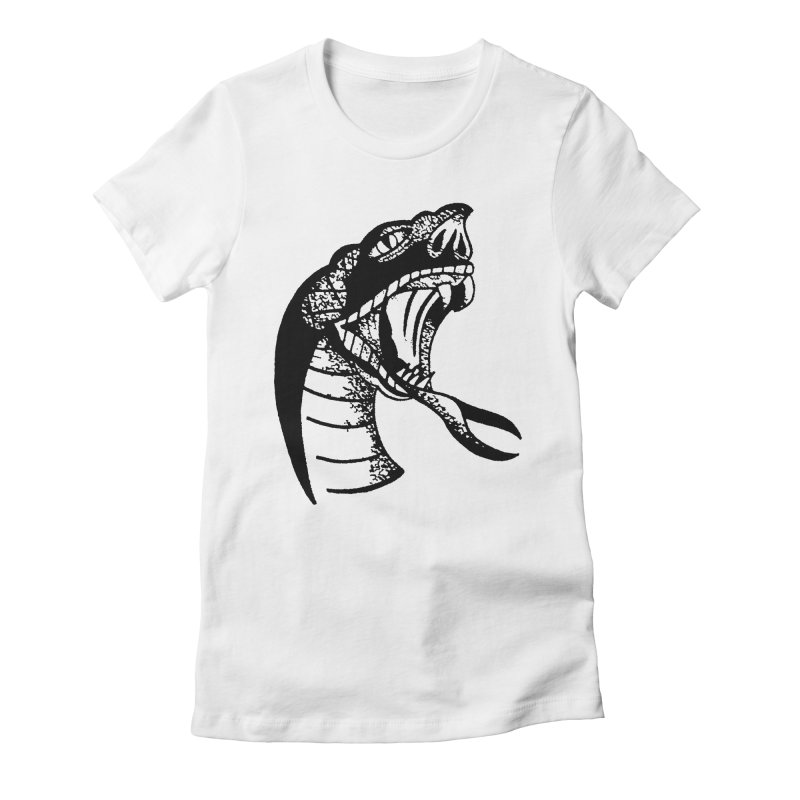 BLXCK SNAKE Women's Fitted T-Shirt by Hvmos Artist Shop