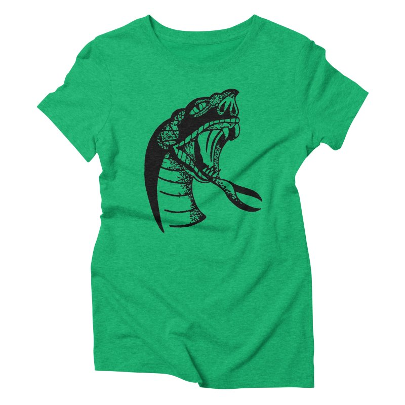 BLXCK SNAKE Women's Triblend T-Shirt by Hvmos Artist Shop